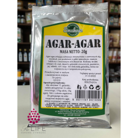 Agar-agar - roślinna żelatyna 20g Smakosz