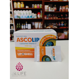 Ascolip (liposomalna witamina C) smak cytryna i pomarańcza 1000mg 30saszetek