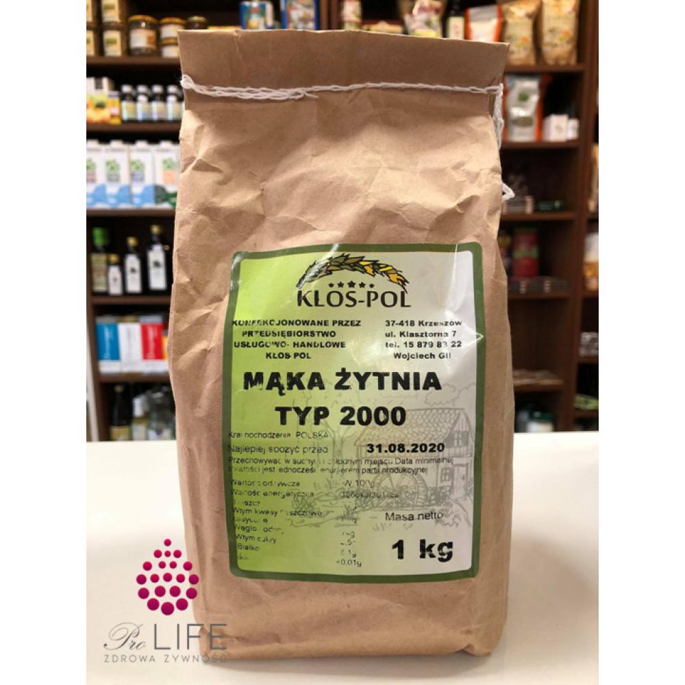 Mąka żytnia typ 2000 1kg Kłos-Pol