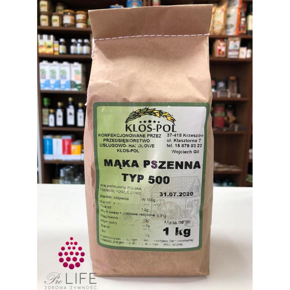 Mąka pszenna typ 500 1kg Kłos-Pol